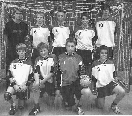 Kader der männlichen C-Jugend.