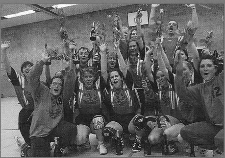 Aufstieg der 1. Damen in die Bezirksliga.