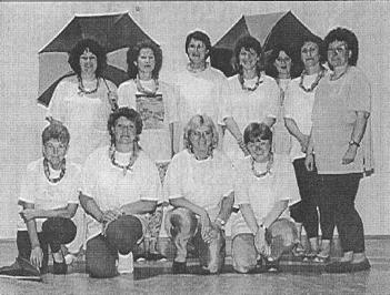 Die immer noch aktive Damen-Gymnastik unter der Führung von Christa Schmidt.