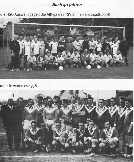 """Zum 20 jährigem HSC-Vereins-Jubiläum trafen sich unter anderem eine HSC-Auswahl und die Altliga des TSV Ehmen zu einem """"historischen"""" Fußballspiel."""