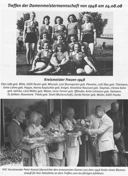 Auch das gab es: Treffen der Damenmeistermannschaft von 1948.