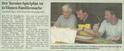 Tage der Ehmener Handballjugend 2003 - Zeitungsrartikel 1