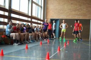 Trainingseinheit in der Halle