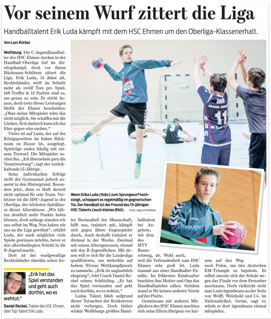 Wolfsburger Nachrichten vom 17. Februar 2016