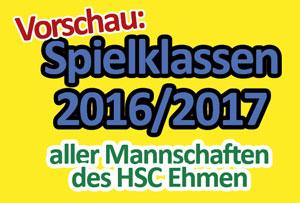 Jetzt online: Übersicht aller Spielklassen der HSC Mannschaften.