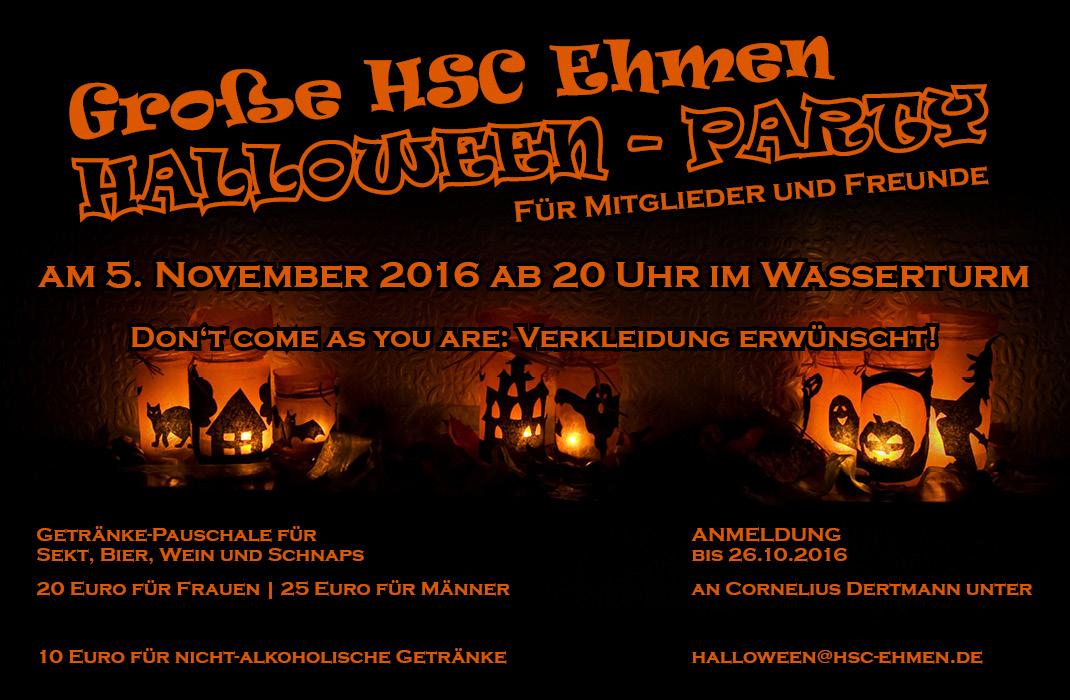 Halloween-Party am 5. November im Wasserturm.