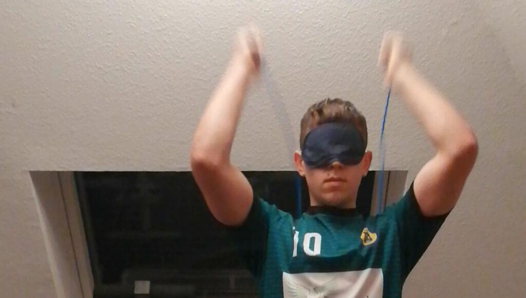 Seilspringen blind